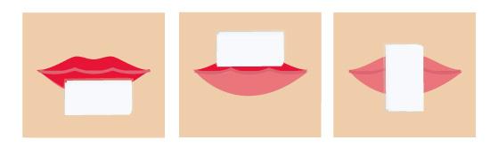 口紅の落とし方の画像