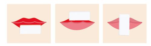 口紅ポイントメイク落とし方の画像