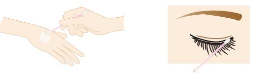 アイライナーポイントメイクの落とし方の画像