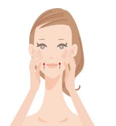 マッサージ頬骨の画像