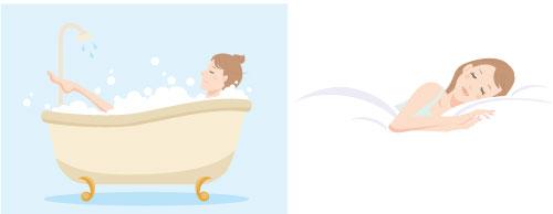 お風呂と睡眠の画像