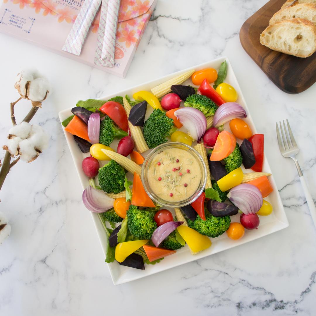 温野菜のチーズバーニャフォンデュの画像